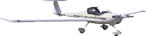 white 2-person aircraft