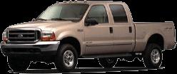 tan four-door pickup truck