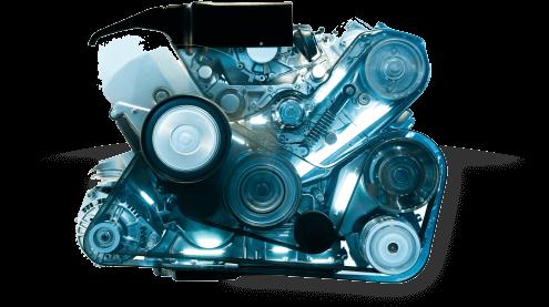 blue engine block