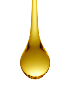Golden drop of oil
