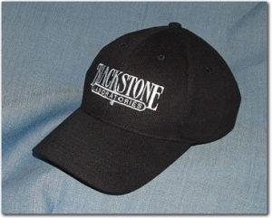 Extremely photogenic Blackstone ballcap, black with white stitching on it. You need this.
