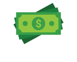 illustration of US currency money with a dollar sign in the middle